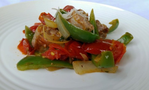 Italian Sausage with Peppers, Onions, and Tomatoes